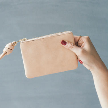 Small pouch - tan
