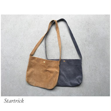 Pig suede shoulder bag
