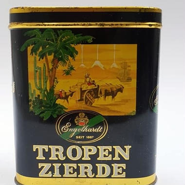 1950s Tropen zierde/Vertical Pocket Tobacco Cigars Tin ENGELHARDT 10St