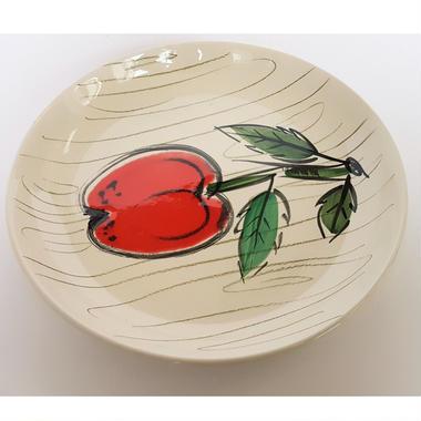 1950's Gallo Keramik ドイツ製  アップル手描き皿