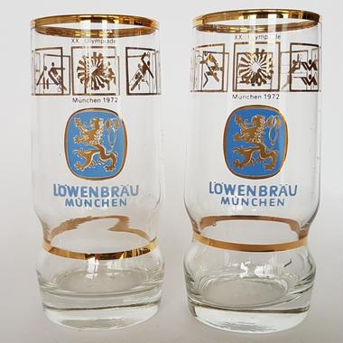 1972 ミュンヘンオリンピック記念Lowenbrau ビアグラス/ Otl Aicherデザイン
