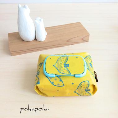 幸せを呼ぶ黄色い鳥おしりふきケース