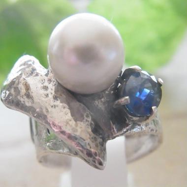 南洋真珠リングⅡサファイヤ