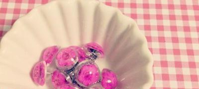 フラワーピアス (pink)