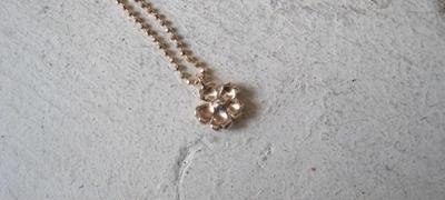 Sakura Petal Necklace  K10 Pink Gold-春限定-