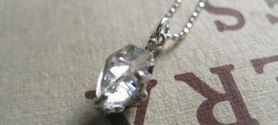 New!Herkimer diamond Necklace9mm -ハーキマーダイアモンドネックレス-