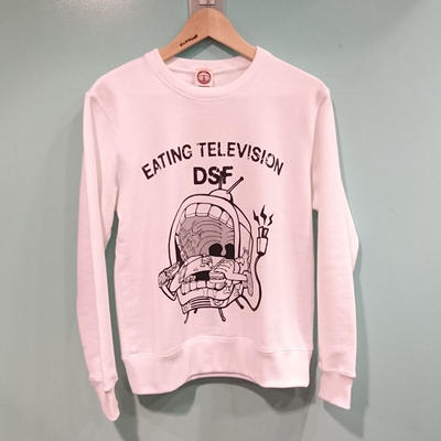 EATING TELEVISION sweat ホワイト