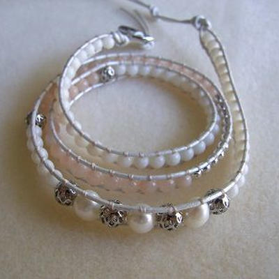 Handmade crystal layer bracelet
