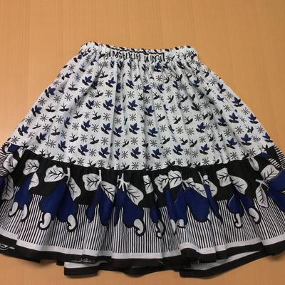 カンガのフリルスカート