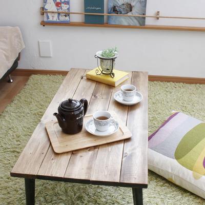折りたたみテーブル・アンティーク風・ローテーブル・コーヒーテーブル・インダストリアル・男前インテリア