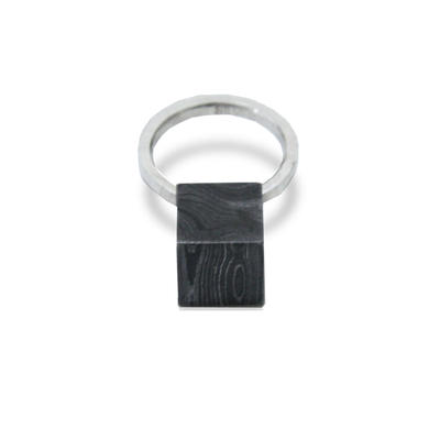 DAMASCUS CUBE RING(3号) / KOSUKE KATO