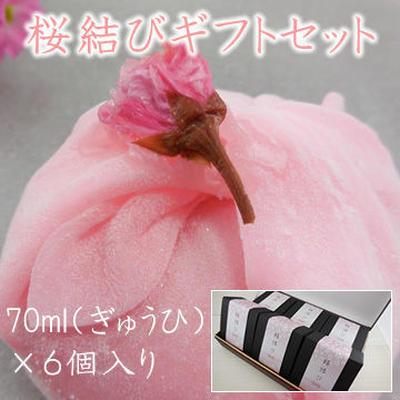 桜結びギフトセット ぎゅうひアイス 6個入りギフトセット