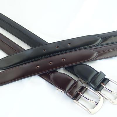 (New)数量限定! 超希少 q-HORSE コードバン紳士ベルト 幅30mm 標準ステッチタイプ100cm