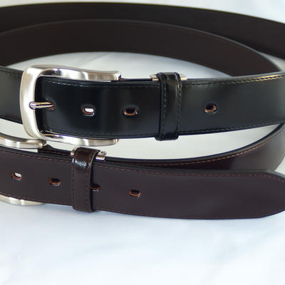 (New)数量限定! 超希少 q-HORSE コードバン紳士ベルト 幅35mm ロングフラットタイプ120cm
