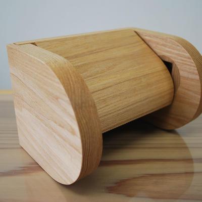 シングル木製トイレットペーパーホルダー 【タモ】