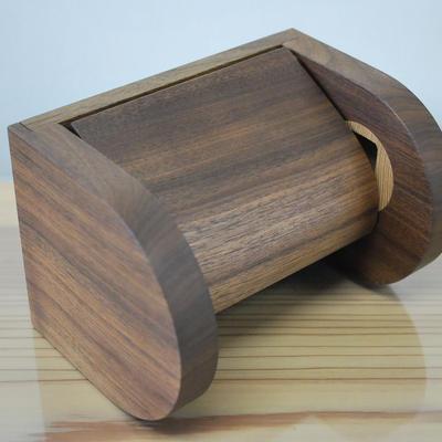 シングル木製トイレットペーパーホルダー 【ウォールナット】