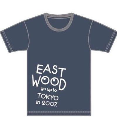 2017 EAST WOOD Tシャツ (ダークヘザーネイビー)