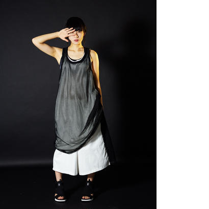 綴 long mesh tanktop
