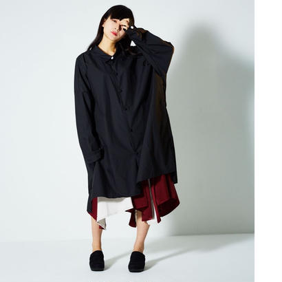 結 long shirt/Black