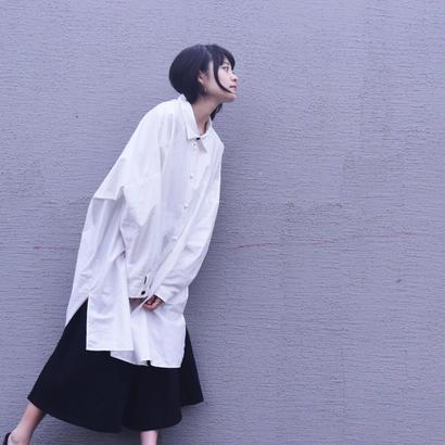 結/白 0658 original ロングシャツ