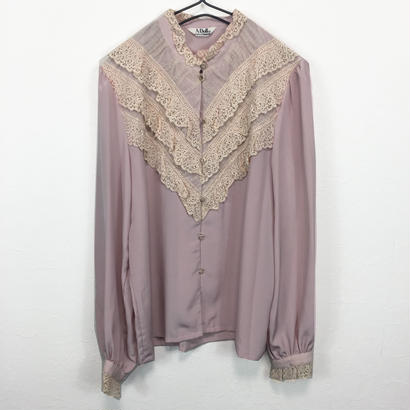baby pink frill blouse