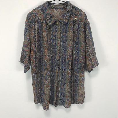 modern brown flower shirt