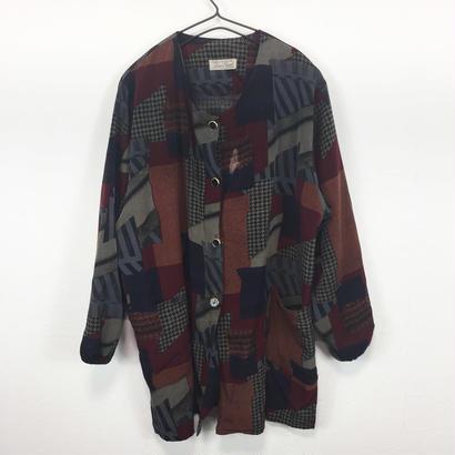 tugi-hagi  no collarjacket blouse