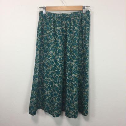 blue flower bouquet skirt