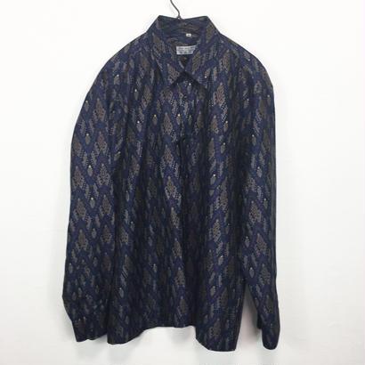 navy modern design shirt