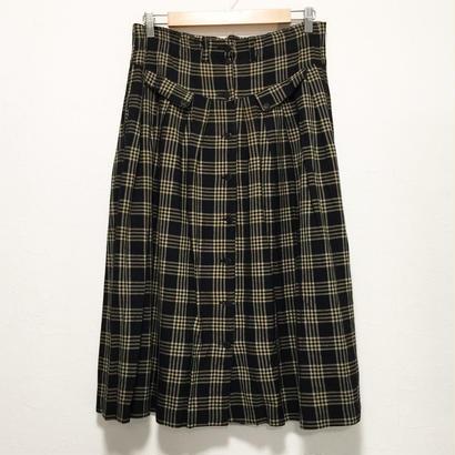 high waist front button skirt