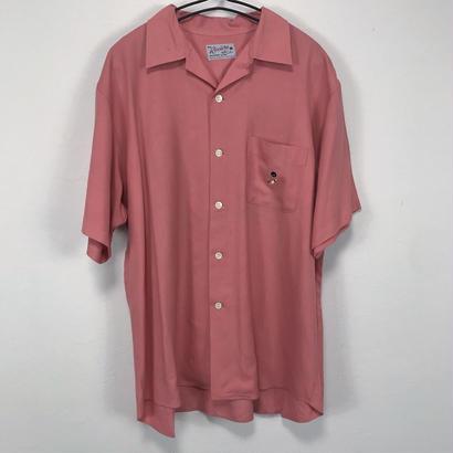 50's vintage pink bowling shirt