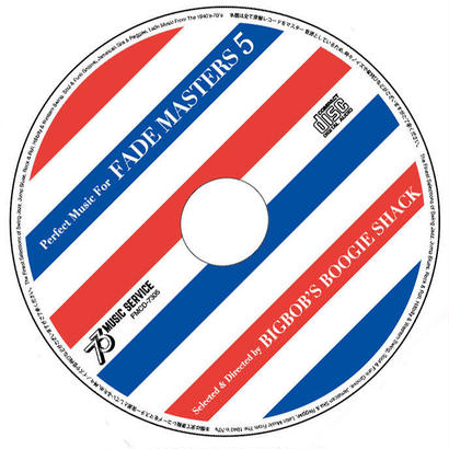 """Perfect Music For FADE MASTERS 5"" MIX CD"