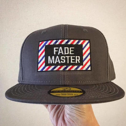 """FADE MASTER"" SNAP BACK CAP = Barber Stripe="
