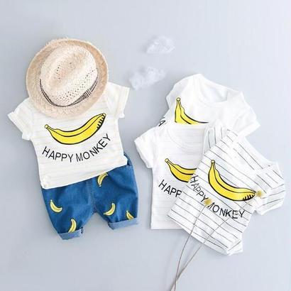 送料無料 banana☆set up  Tシャツ+ボトムス