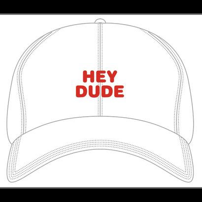 HEY DUDE polo cap (WHITE)