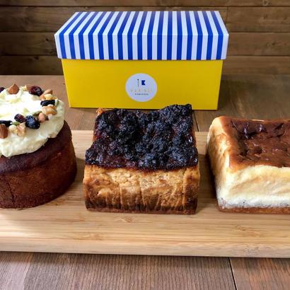 ギフトボックス入ケーキ2個セット(3種類から)
