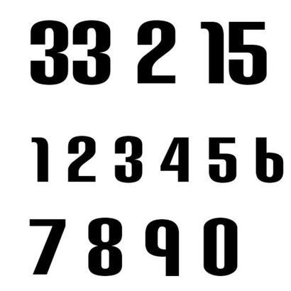 ナンバー2(Sサイズ)2桁/ブラック