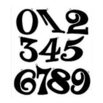 ナンバー(Sサイズ)2桁/ブラック
