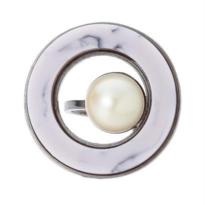 RETRO round ring (silver)