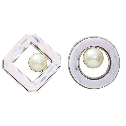 RETRO pearl pierce / earring (silver)