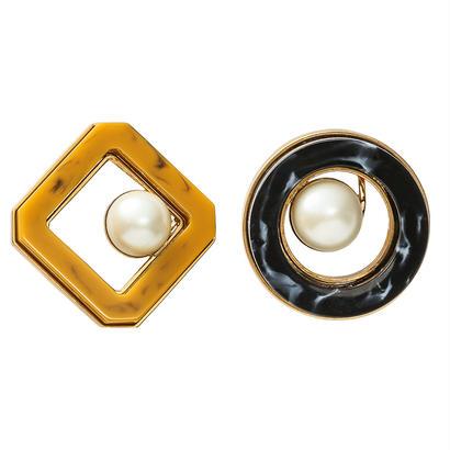 RETRO pearl pierce / earring (gold)