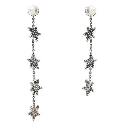 CUTSTEEL star long pierce/earring (silver)