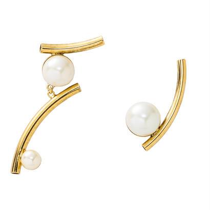 NOVA asymmetry pierce/earring (gold)