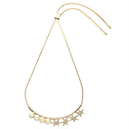 STAR adjaster pearl necklace (gold)