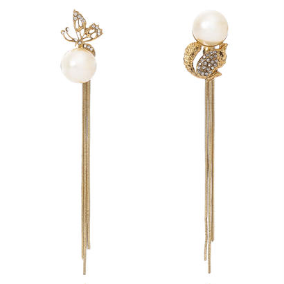 FANTASIE pearl fringe 2way pierce
