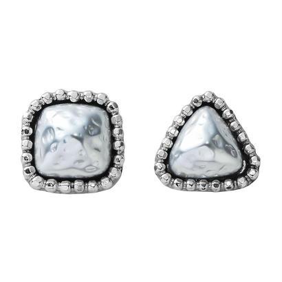 CUTSTEEL baroque pearl pierce/earring (silver)