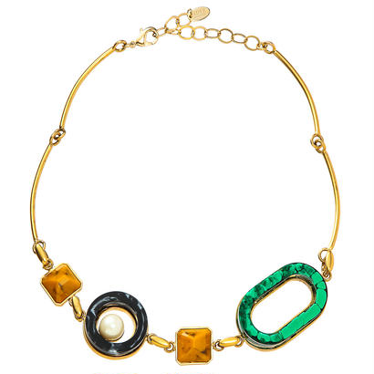 RETRO short necklace (gold)