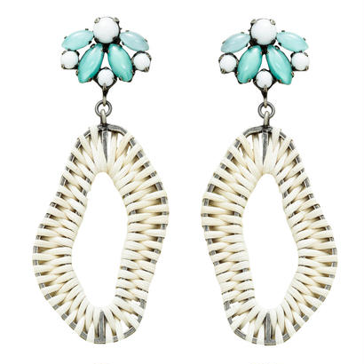 FANTASIE rattan hoop pierce/earring
