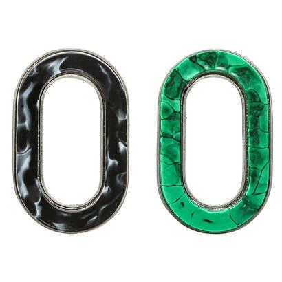 RETRO oval pierce/earring