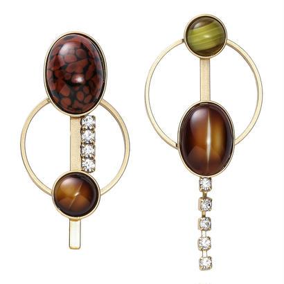 EARTH hoop pierce/earring (goldxbrick)